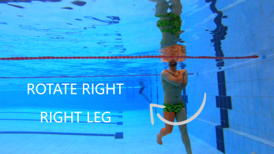 rotate right with your right leg